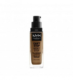 NYX PROFESSIONAL MAKEUP Тональная основа Can't Stop Won't Stop Full Coverage Foundation - Nutmeg 165
