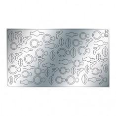 Freedecor, Металлизированные наклейки №203, серебро