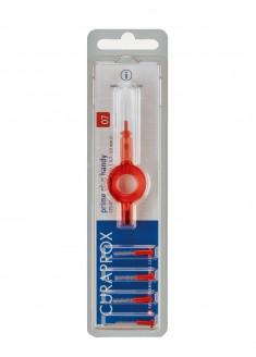 CURAPROX Ершик межзубный 0,7 мм, красный Prime 5 шт + держатель красный UHS 409