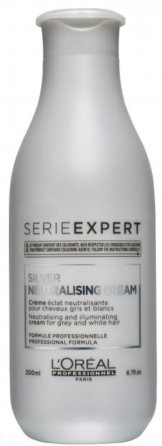 L'OREAL PROFESSIONNEL Уход смываемый для блеска седых и обесцвеченных волос / СИЛЬВЕР 200 мл LOREAL PROFESSIONNEL