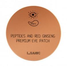 L.Sanic Гидрогелевые патчи для кожи вокруг глаз с пептидами и экстрактом красного женьшеня N60