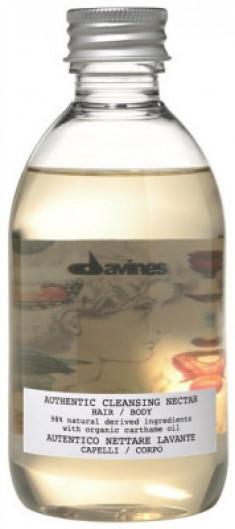 Шампунь-гель Очищающий нектар для волос и тела Davines AUTHENTIC CLEANSING NECTAR HAIR&BODY 280 мл
