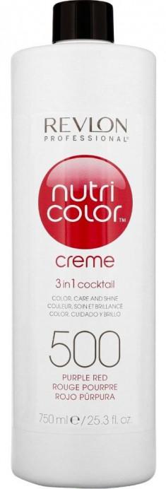 REVLON Professional Крем-краска для прямого окрашивания 500, пурпурно-красный / Nutri Color Creme 750 мл