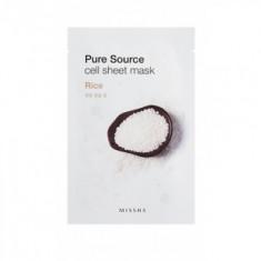 Маска тканевая Рис MISSHA Pure Source Cell Sheet Mask Rice 21г