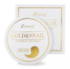 ESTHETIC HOUSE Патчи гидрогелевые с улиточной слизью и коллоидным золотом / GOLD & SNAIL HYDROGEL EYEPATCH 60 шт