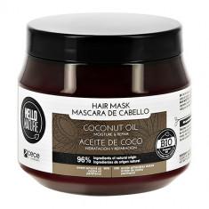 Маска для волос HELLO NATURE COCONUT OIL с кокосовым маслом увлажнение и восстановление 250 мл