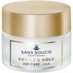 SANS SOUCIS Крем-люкс антивозрастной питательный 24 часа Икра и золото / CAVIAR & GOLD ANTI AGE DELUXE 24H CARE RICH 50 мл