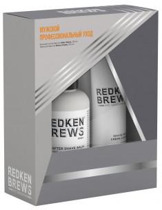 REDKEN Набор мужской для бритья (крем для бритья 150 мл, бальзам после бритья 125 мл) / BREWS