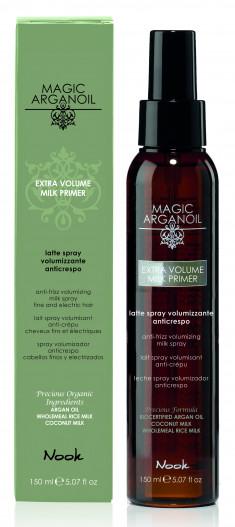 NOOK Молочко-праймер для придания объема тонким волосам / Extra Volume anti-frizz Thermal Milk MAGIC ARGANOIL 150 мл