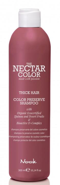 NOOK Шампунь для ухода за жесткими окрашенными волосами / Color Preserve Shampoo - Thick Hair to preserve cosmetic color 300 мл