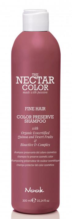 NOOK Шампунь для ухода за тонкими окрашенными волосами / Color Preserve Shampoo - Fine Hair to preserve cosmetic color 300 мл