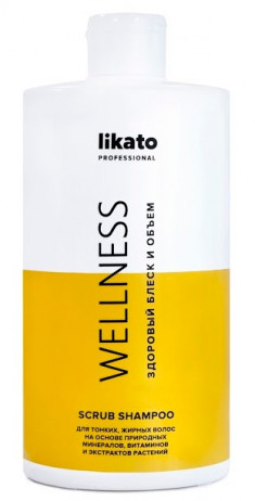 LIKATO PROFESSIONAL Шампунь-скраб для жирных волос / WELLNESS 750 мл