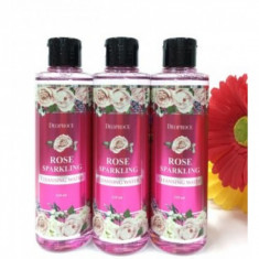 вода очищающая с экстрактом розы deoproce rose sparkling cleansing water