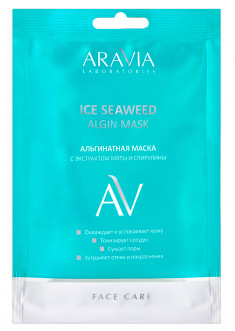 ARAVIA Маска альгинатная с экстрактом мяты и спирулины / ICE SEAWEED ALGIN MASK ARAVIA Laboratories 37 г
