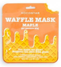Маска вафельная омолаживающая с экстрактом кленового сиропа Kocostar Waffle Mask Maple 40 г