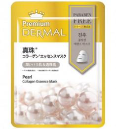 Тканевая маска жемчуг Dermal Premium Pearl Collagen Essence Mask 23 мл