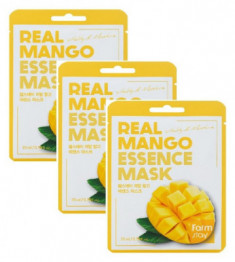 Тканевая маска для лица с экстрактом манго DEOPROCE Real Mango Essence Mask 23мл*3
