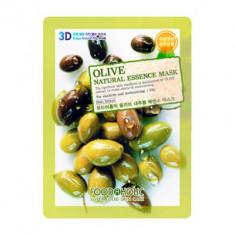 Тканевая 3D маска с экстрактом оливы для увлажнения и питания кожи Olive Natural Essence Mask 23 мл FoodaHolic
