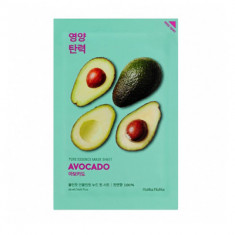 Маска тканевая смягчающая Holika Holika Pure Essence Mask Sheet Avocado, авокадо 20 мл