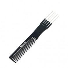 Dewal, Расческа «Эконом» для начеса, металлическая, черная, 19 см
