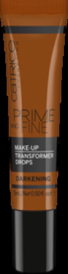 Корректор цвета тональной основы Prime And Fine Make Up Transformer Drops - darkening темный CATRICE