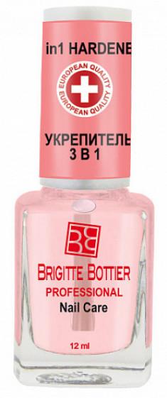 BRIGITTE BOTTIER Укрепитель 3 в 1 для ногтей / 3 in 1 Hardener 12 мл