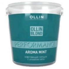 Ollin Blond Performance Powder With Mint - Осветляющий порошок с ароматом мяты, 500 гр. OLLIN PROFESSIONAL