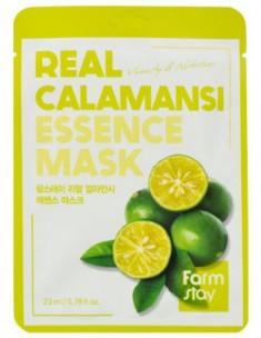 Тканевая маска для лица с экстрактом каламанси FarmStay REAL CALAMANSI ESSENCE MASK 23мл