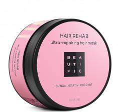 BEAUTIFIC Маска супер восстанавливающая с протеинами киноа, кератином и кокосовым маслом для поврежденных волос / Hair Rehab 250 мл