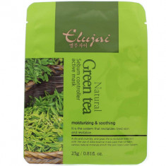 Тканевая маска для лица с зеленым чаем Elujai Sebum Controller Active Mask Green Tea Essence 23 г