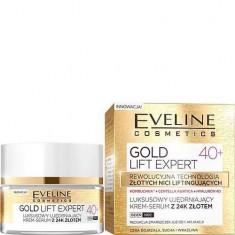 Крем-сыворотка для лица эксклюзивный укрепляющий с 24к золотом 40+ Gold Lift Expert EVELINE